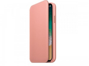 Etui Apple iPhone X/XS Leather Folio Case Różowe